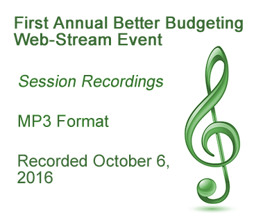 First Annual Better Budgeting Web-Stream Event - 2016