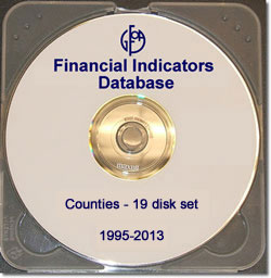 Financial Indicators Database Counties 19-Disk Set