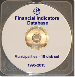 Financial Indicators Database Municipalities 19-Disk Set