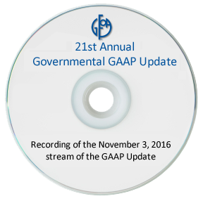 21st Annual Governmental GAAP Update - 2016